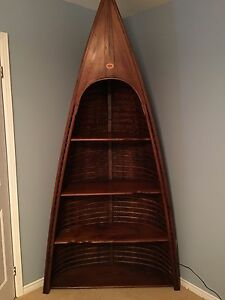 Vintage high end canoe shelf