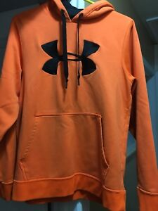 Men's Orange UnderArmour Hoodie sz M