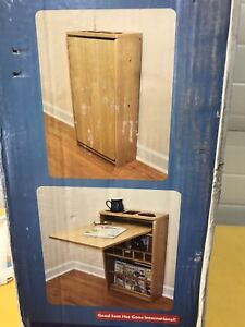 Wall unit flip up table