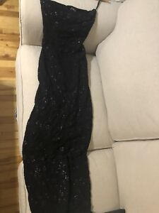 Le Chateau gown / long sparkle dress