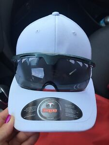 White Baseball Cap With Glasses