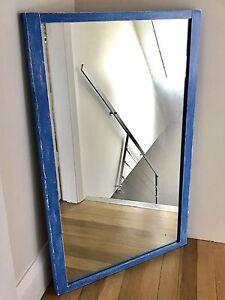 Ocean Blue Wooden Frame Mirror. Woolloomooloo Inner Sydney Preview