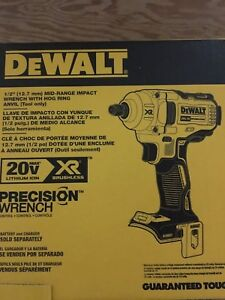 "Dewalt 20v XR Brushless 1/2"" Compact Impact Wrench"
