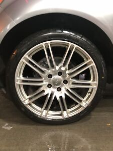 "MAGS FOR AUDI 22"" 5X130 WITH NEW TIRES"
