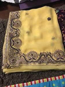Brand new unstitched Indian sarees