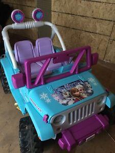 Frozen electric jeep