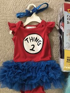Cat in the Hat Toddler and parent Halloween costumes