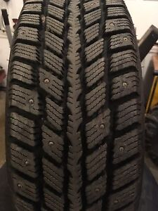 215 70 15 Winter Tires Studded on Rims
