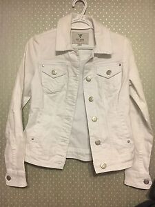 White guess jean jacket size small