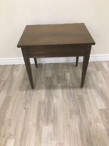 Apartment furniture- end table and dining table/chair set.