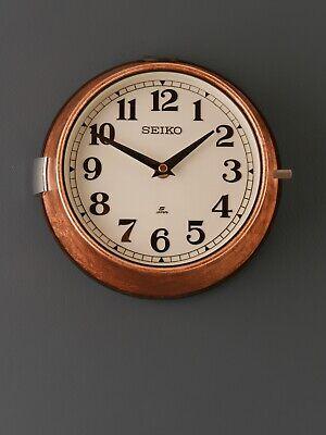Vintage Seiko Ship's Wall Clock - Copper leaf