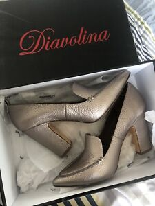 Diavolina gunmetal heels pumps loafers 37 as new Docklands Melbourne City Preview