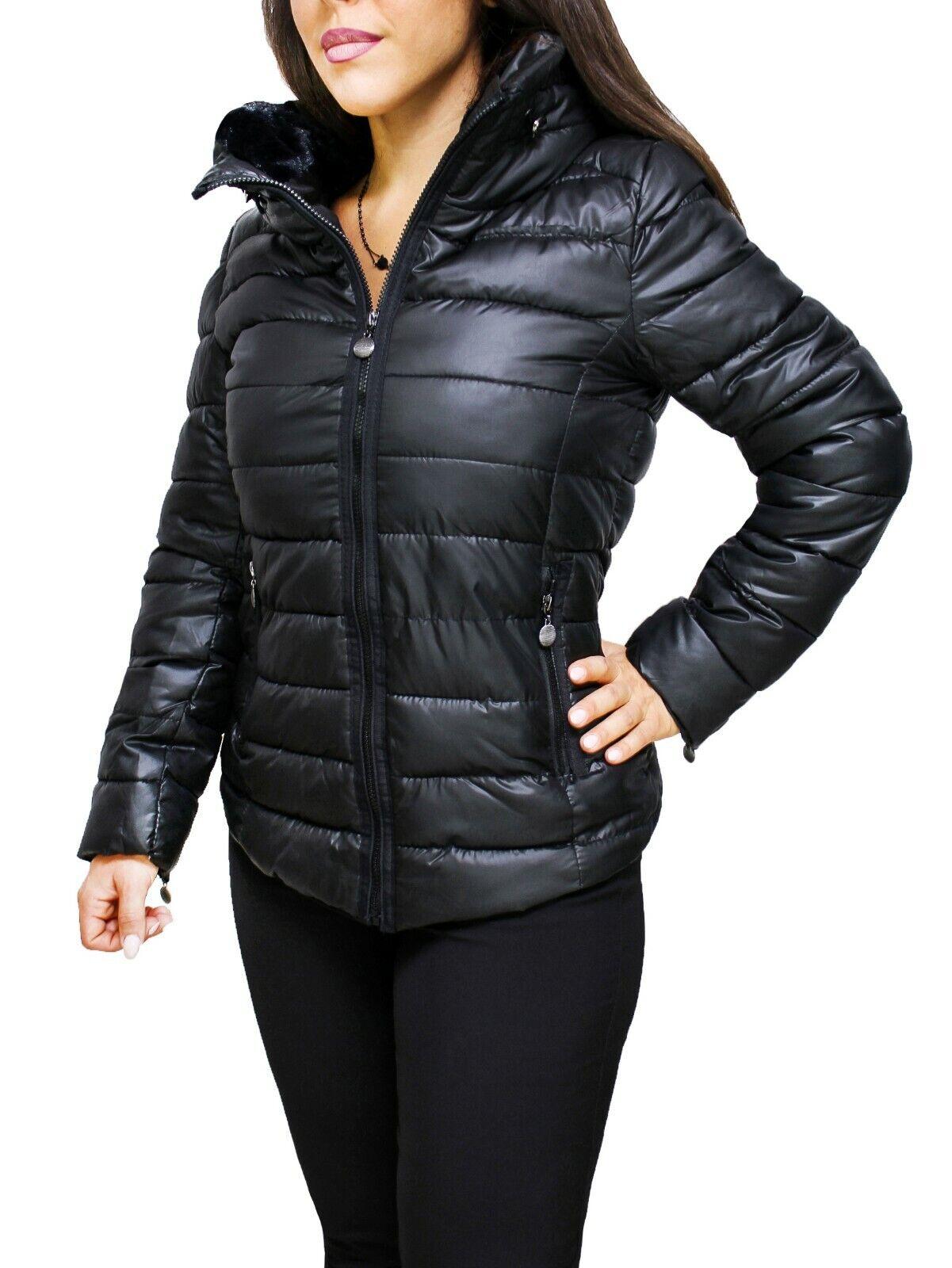 super cute 5ee50 07f18 Diamond giaccone piumino donna casual nero invernale con ...