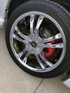 Chrome Rims & Tires for sale!
