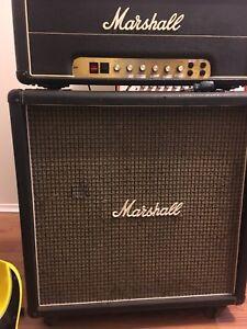 Marshall 4x12 bottom cabinet 1974 T1221 greenbacks