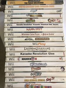 Wii Games, Lot. $5.00 each