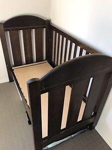 Dark wood baby cot Girrawheen Wanneroo Area Preview