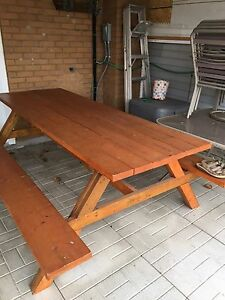 8 Foot Custom Made Picnic Table For Sale