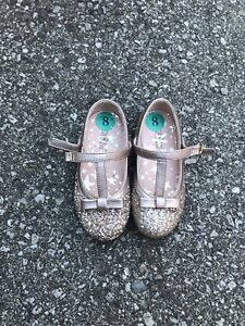 Toddler size 8 - Maggie and Zoe shoe pink gold sparkle