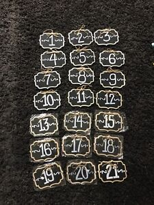 Rustic Table Numbers!
