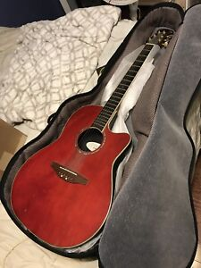 Ovation guitar with case