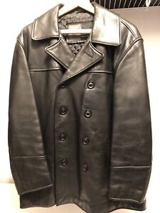 RUDSAK black leather double breasted jacket