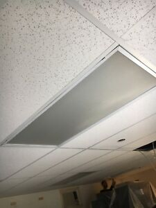 9 ceiling panel fluorescent fixtures with tubes