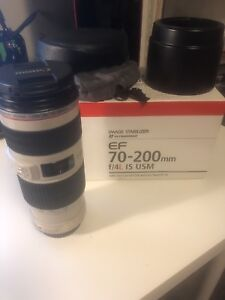 CANON EF 70-200 F4 L IS USM LENS