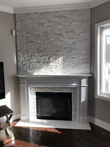 Gas fireplace+mantle