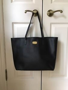 Michael Kors purse - Black Leather Tote Bag