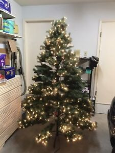 Artificial Christmas tree 6.5 feet tall with lights