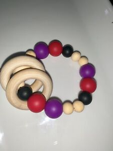 Silicone and Wood teethers