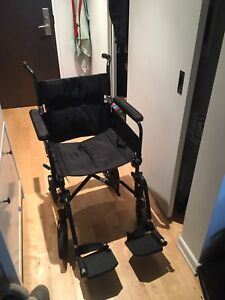 Airgo ultra light transport wheelchair / chaise roulante