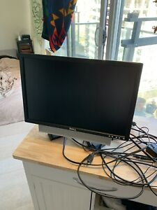 Dell monitor for sale with speaker and cords.