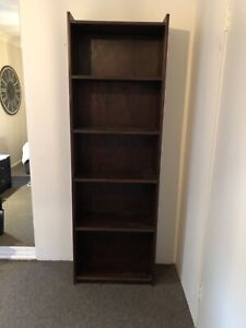 Dark Timber Bookcase Bookcases Shelves Gumtree