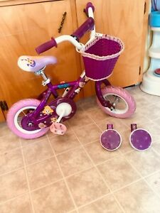 "Bubble Guppies 10"" bike with training wheels"