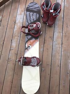 Burton Snowboard, bindings, boots woman's