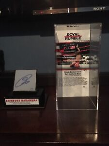 Wwe royal rumble 2018 canvas autographed RARE