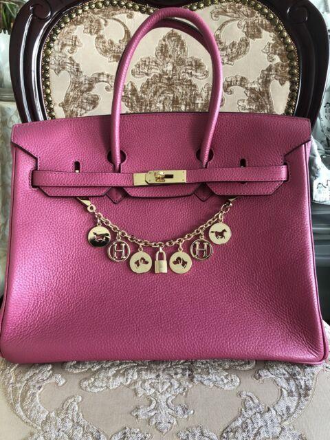 Pre-owned Hermes Birkin Handbag Pink 35 with Gold Metal  ba960233a