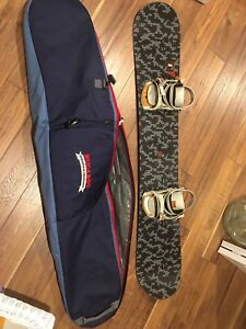 Snowboard and bag