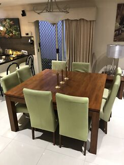 Square Wooden Table With Chairs