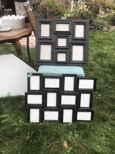 Two Black Multi Picture Frames