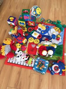 Infant play mats and toys