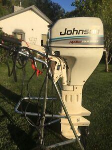 Johnson 9.9, four stroke,high thrust,extra long shaft,e start
