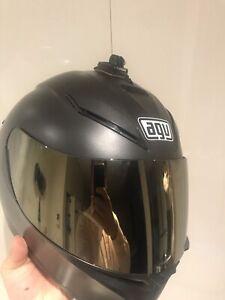 Like New AGV K-3 SIZE XL Helmet gold reflecting visor