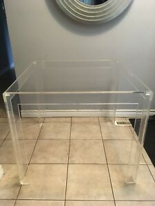 "Vintage Lucite table base - 33""x33""x29""  No glass top"
