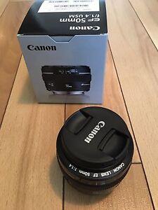 LENTILLE CANON 50mm 1.4