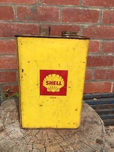 Vintage Shell one gallon tin