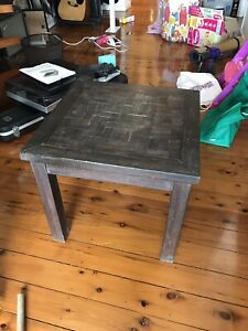 Side table dark wood