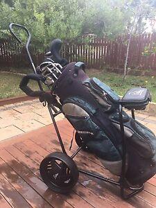 Golf bag , cart and clubs Hamilton Hill Cockburn Area Preview